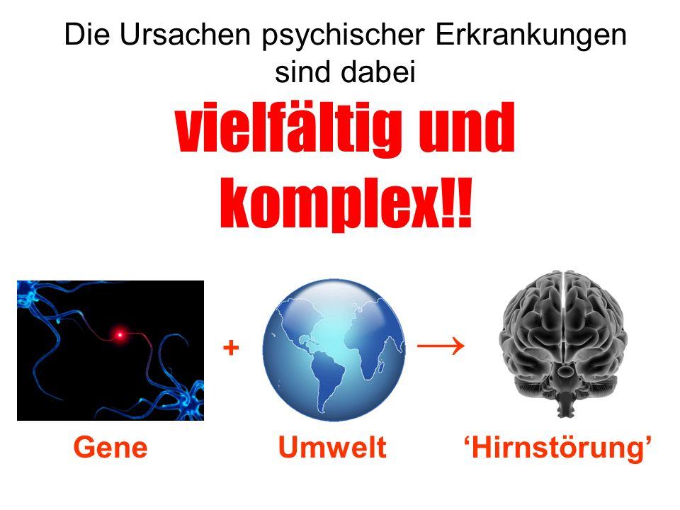 Die Ursachen psychischer Erkrankungen sind dabei vielfältig und komplex!!