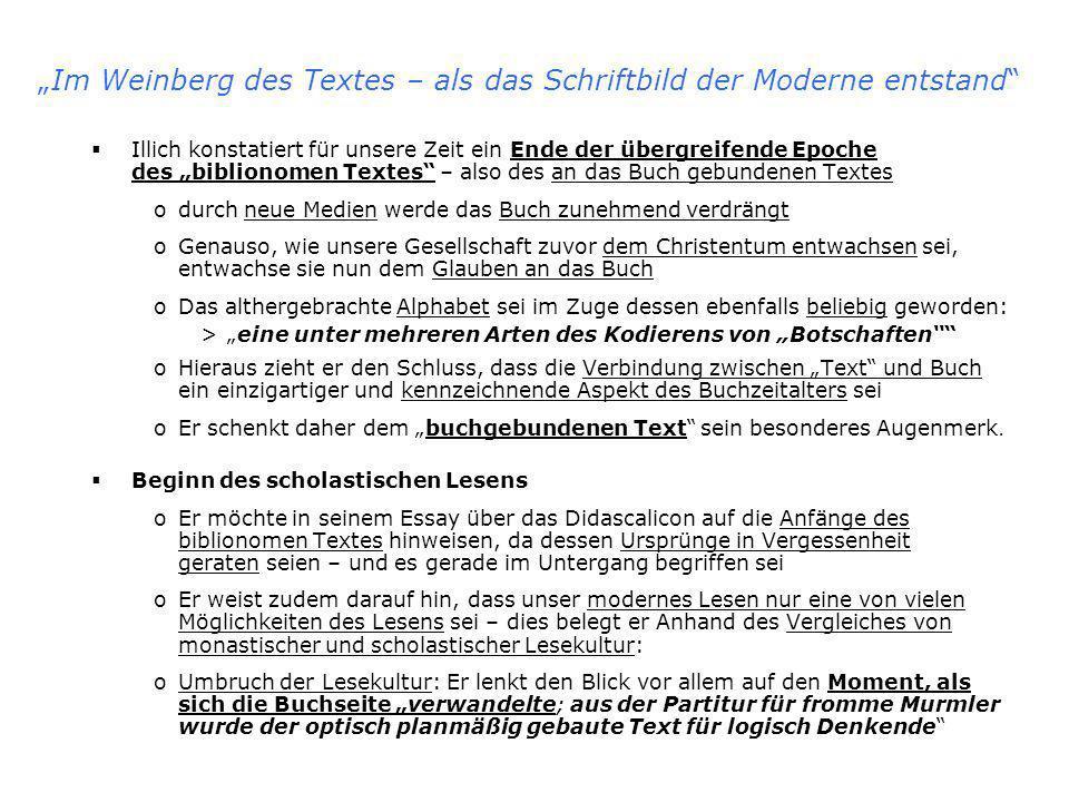 """""""Im Weinberg des Textes – als das Schriftbild der Moderne entstand"""