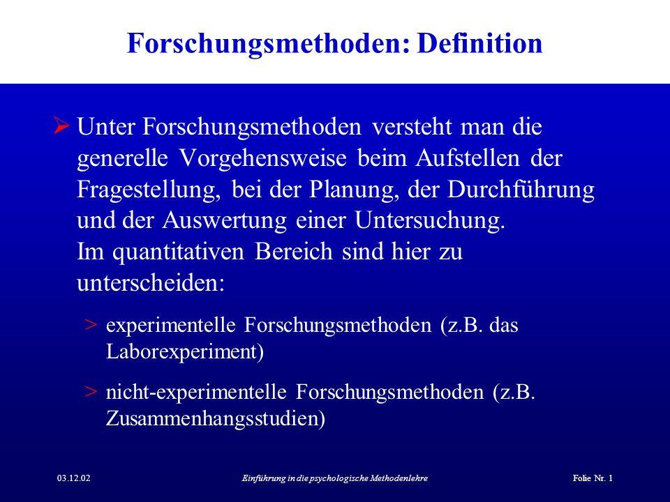 Forschungsmethoden: Definition