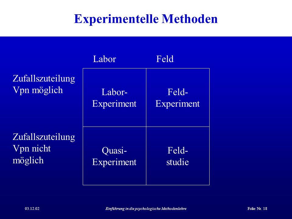 Experimentelle Methoden