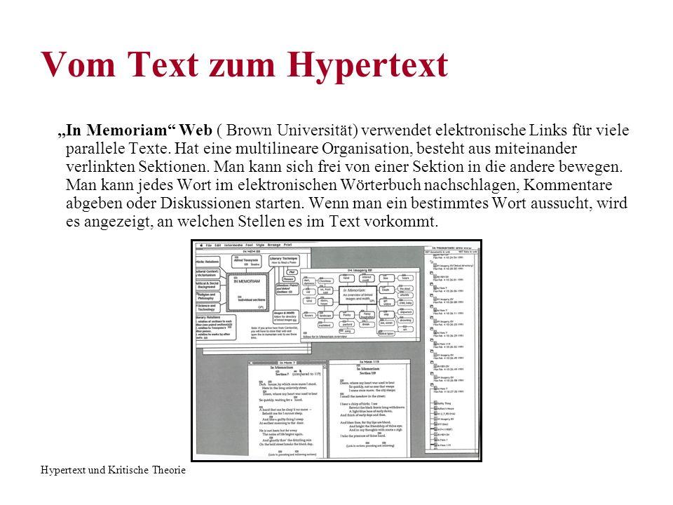 Vom Text zum Hypertext