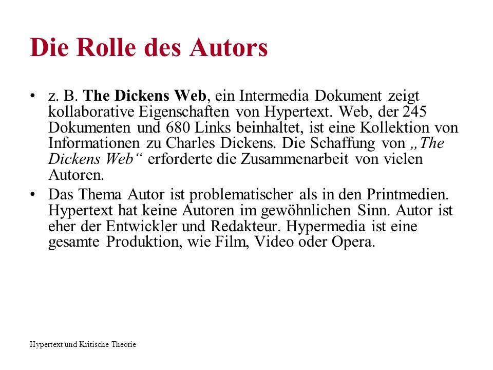 Die Rolle des Autors