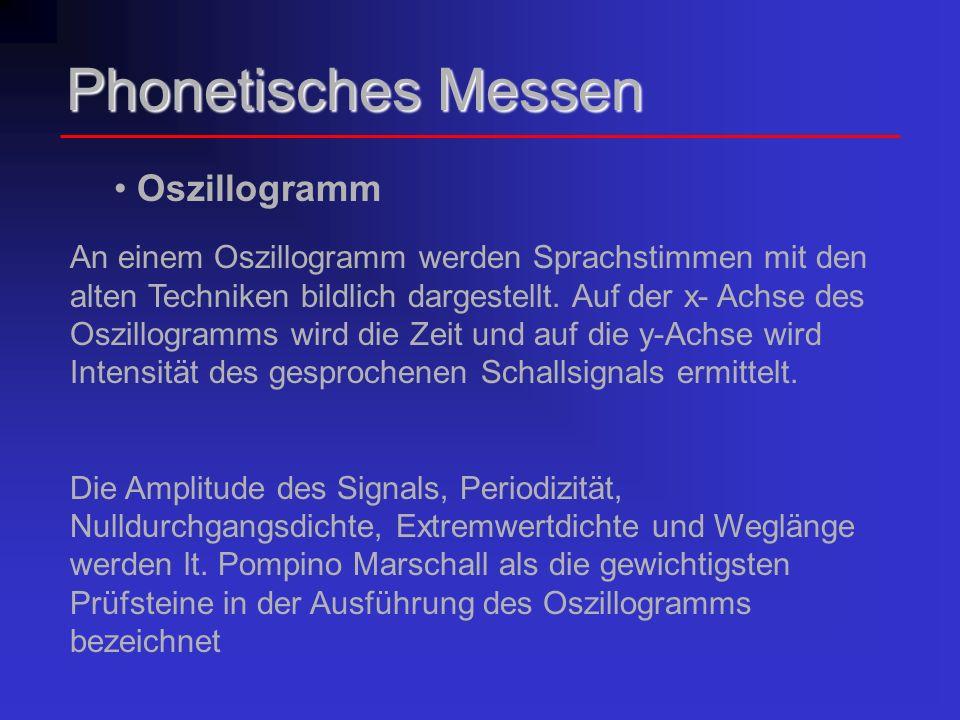 Phonetisches Messen Oszillogramm