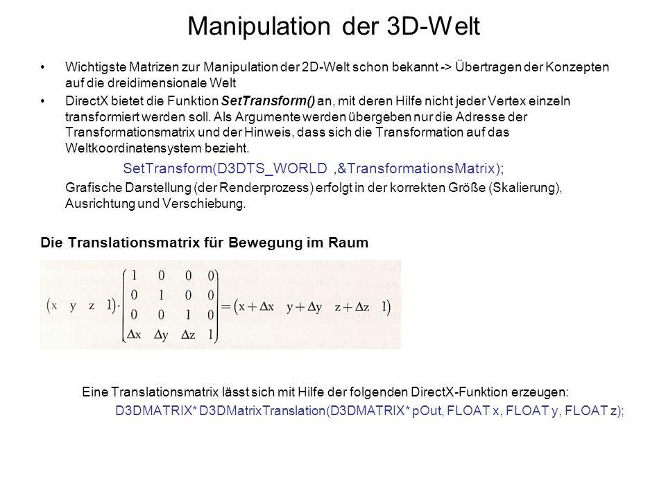 Manipulation der 3D-Welt