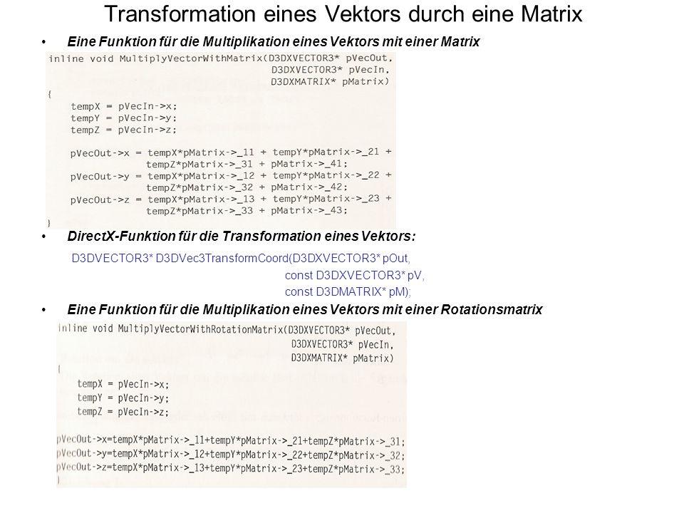 Transformation eines Vektors durch eine Matrix