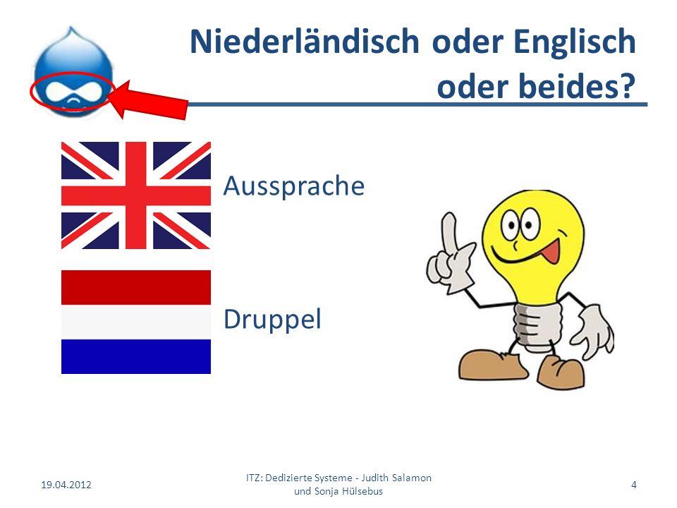 Niederländisch oder Englisch oder beides