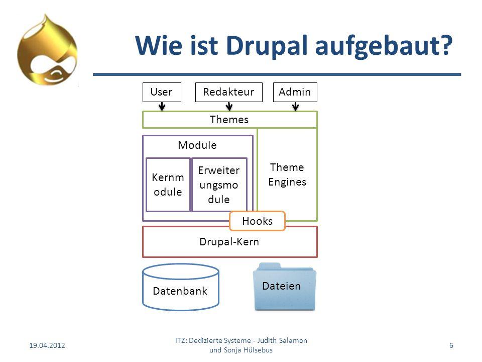 Wie ist Drupal aufgebaut