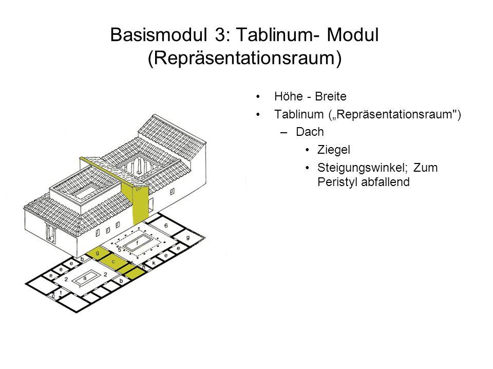 Basismodul 3: Tablinum- Modul (Repräsentationsraum)