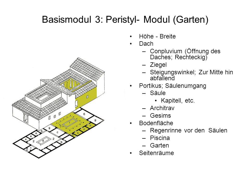Basismodul 3: Peristyl- Modul (Garten)