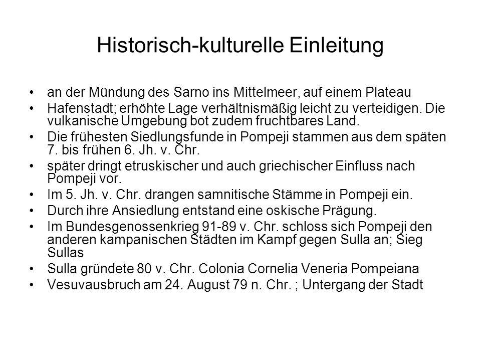 Historisch-kulturelle Einleitung