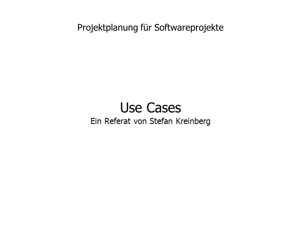 Projektplanung für Softwareprojekte