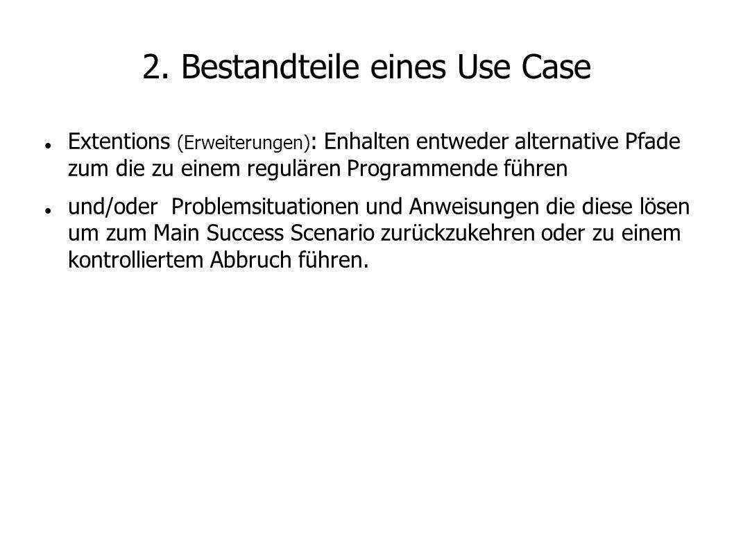 2. Bestandteile eines Use Case