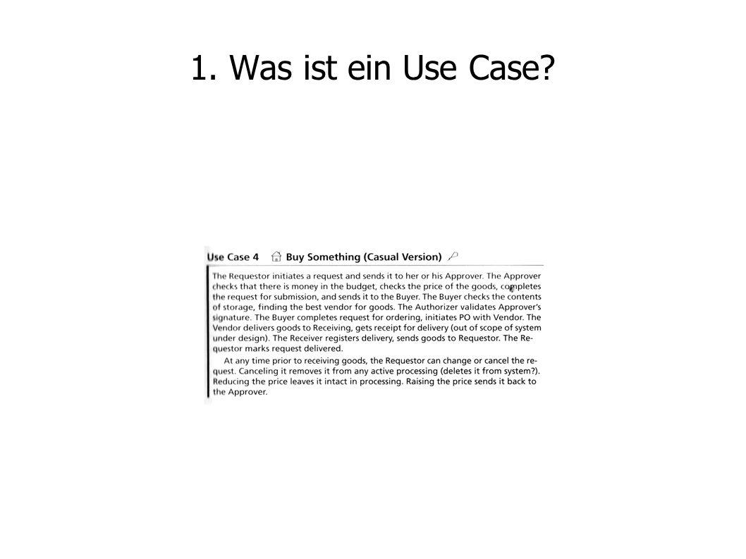 1. Was ist ein Use Case