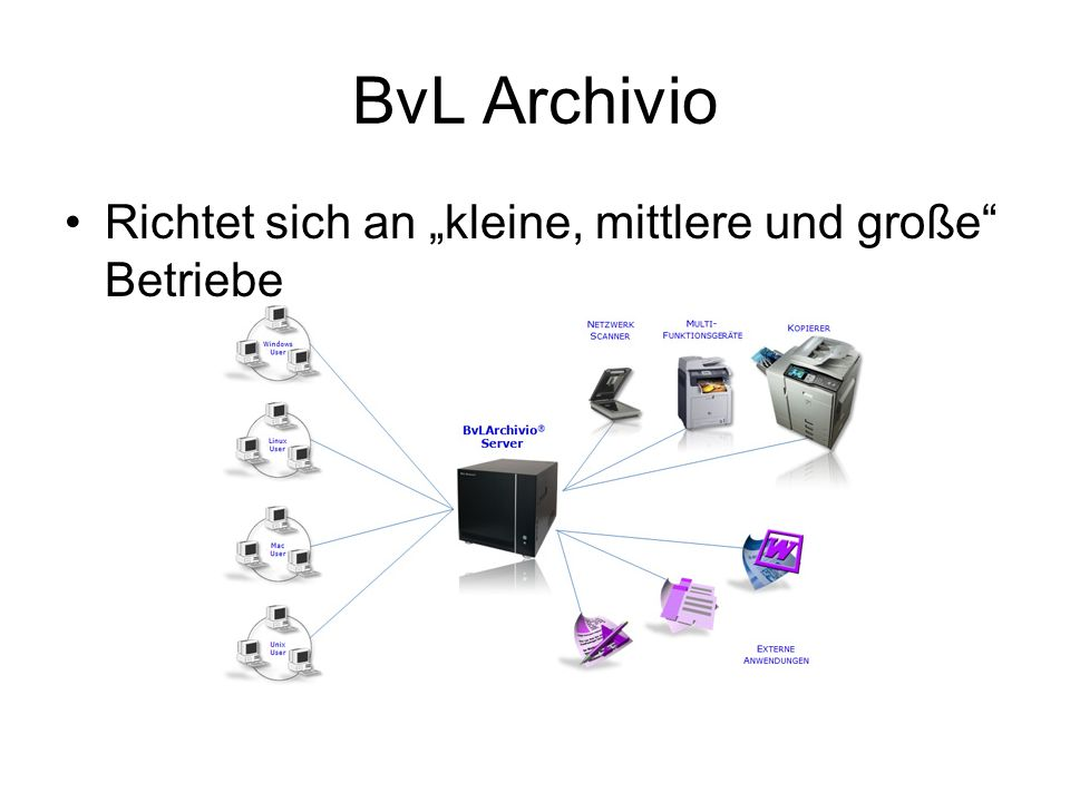 """BvL Archivio Richtet sich an """"kleine, mittlere und große Betriebe"""