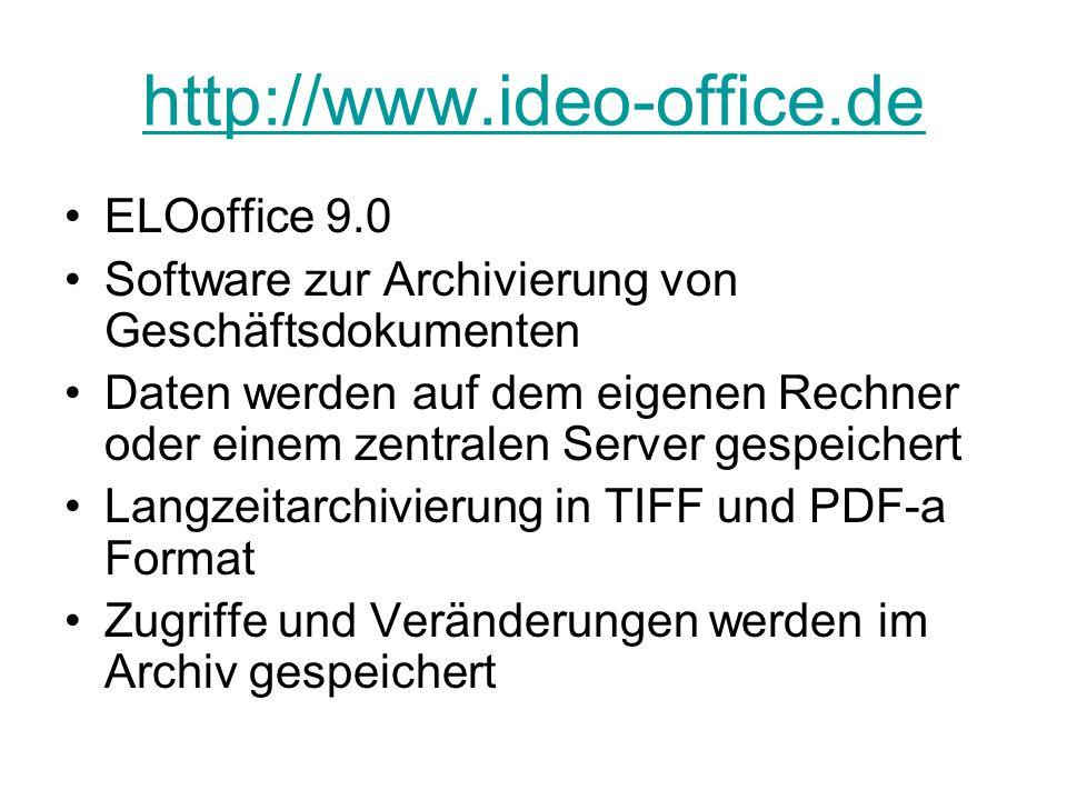 http://www.ideo-office.de ELOoffice 9.0