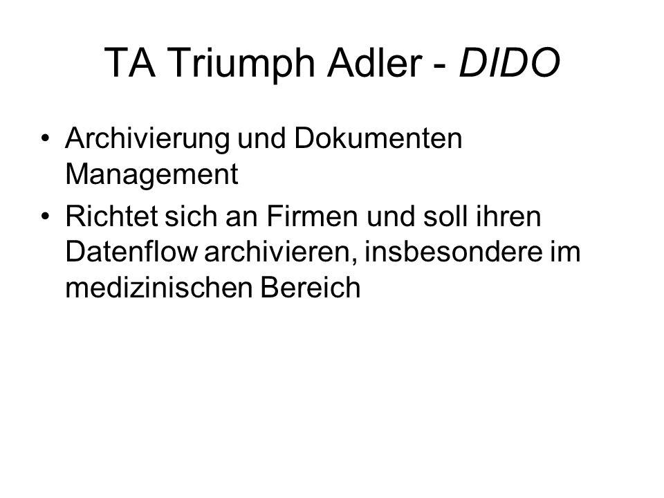 TA Triumph Adler - DIDO Archivierung und Dokumenten Management
