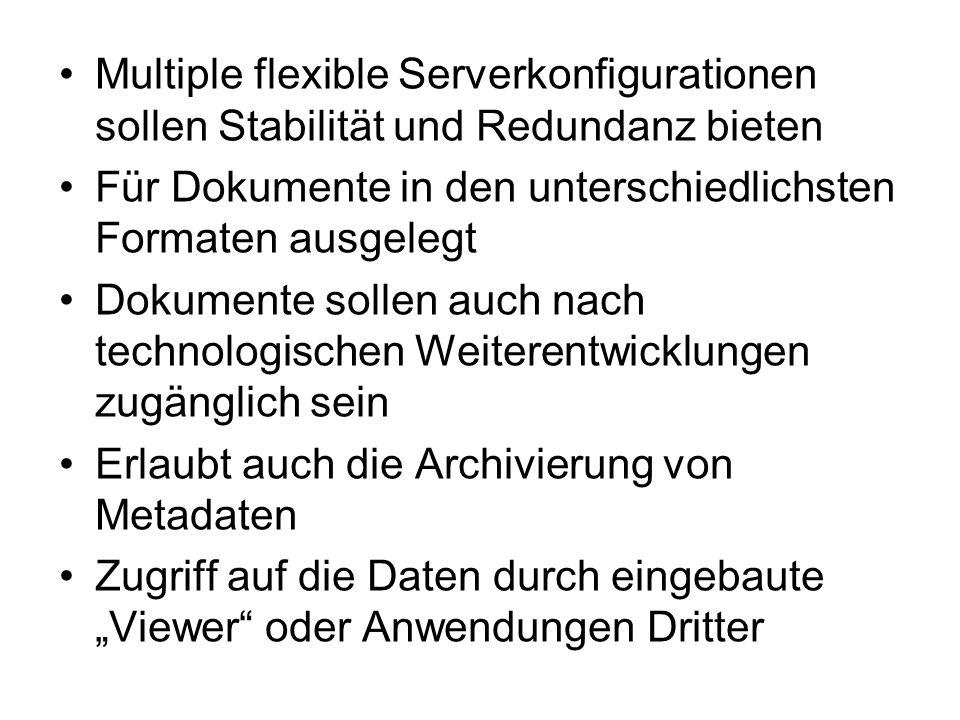 Multiple flexible Serverkonfigurationen sollen Stabilität und Redundanz bieten