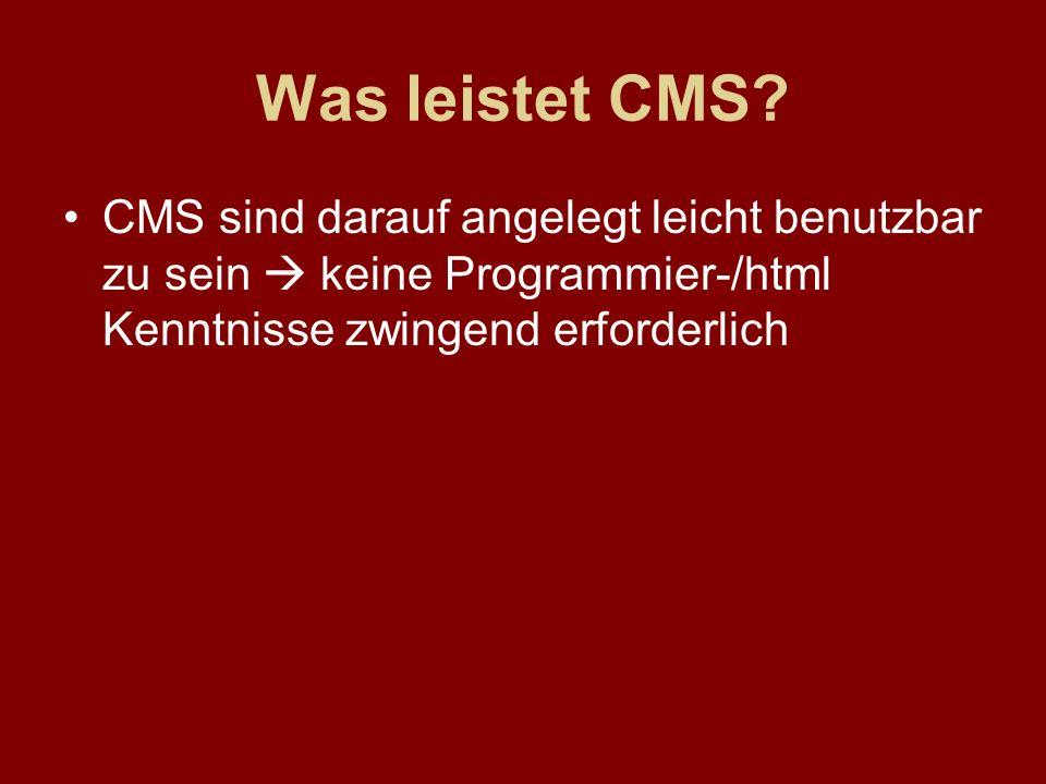 Was leistet CMS.