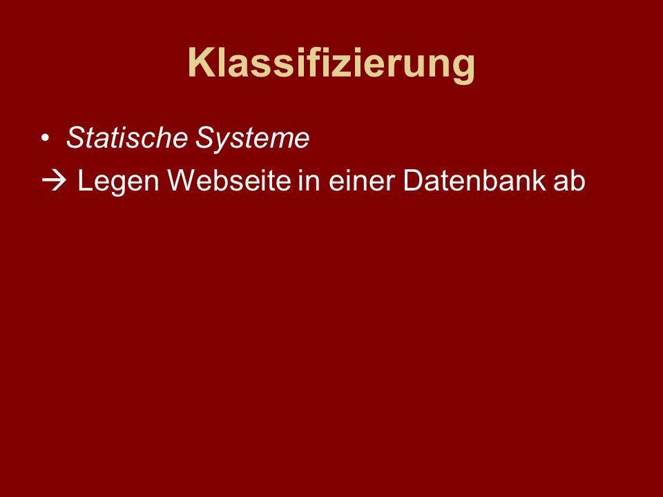 Klassifizierung Statische Systeme