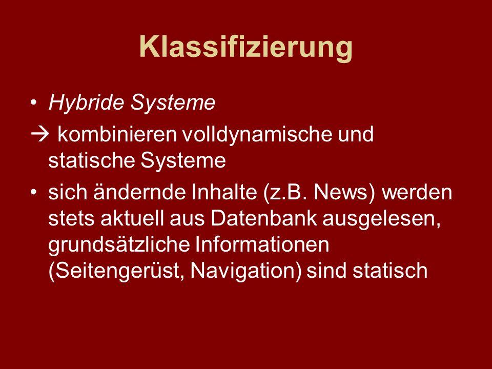 Klassifizierung Hybride Systeme