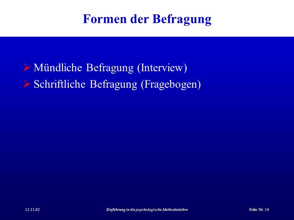 Einführung in die psychologische Methodenlehre