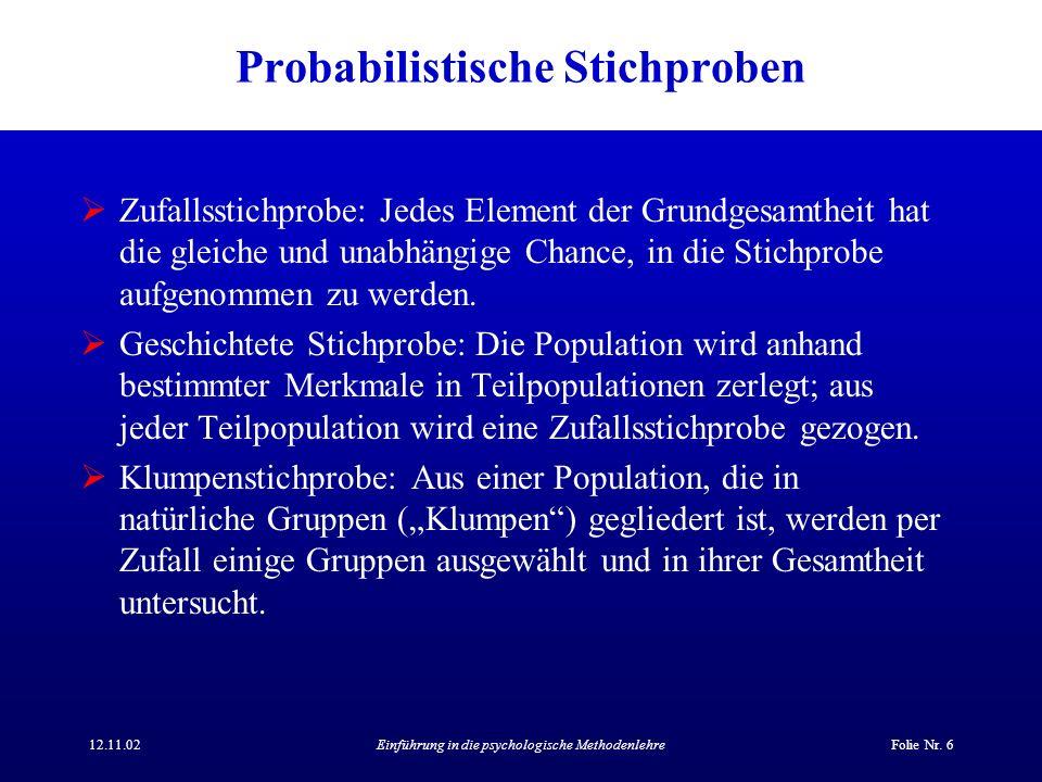 Probabilistische Stichproben