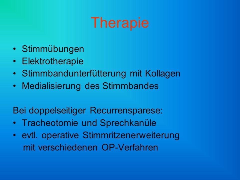 Therapie Stimmübungen Elektrotherapie