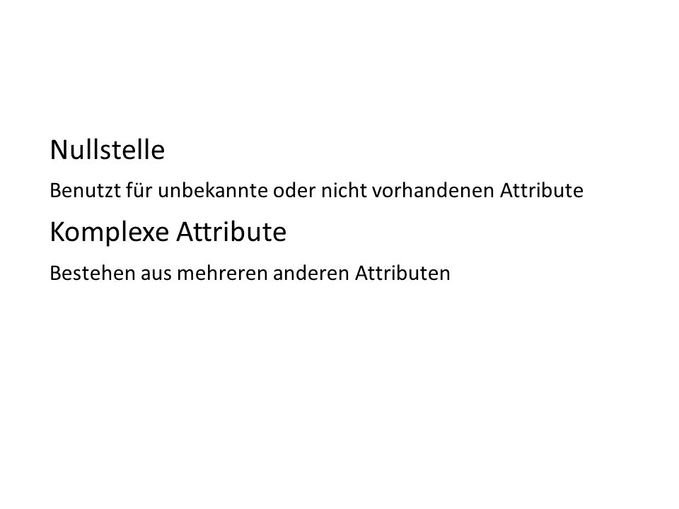 Nullstelle Komplexe Attribute