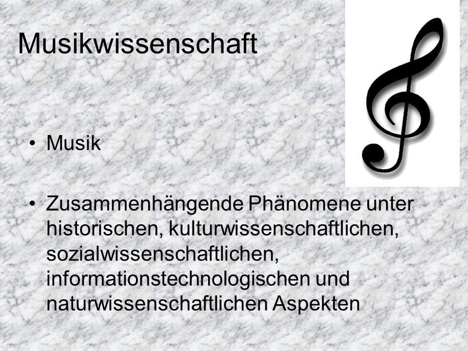 Musikwissenschaft Musik