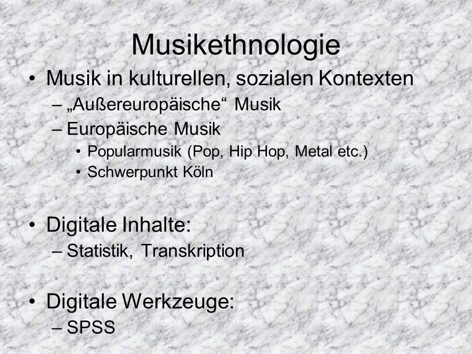 Musikethnologie Musik in kulturellen, sozialen Kontexten