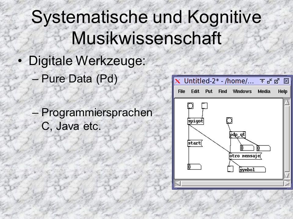 Systematische und Kognitive Musikwissenschaft