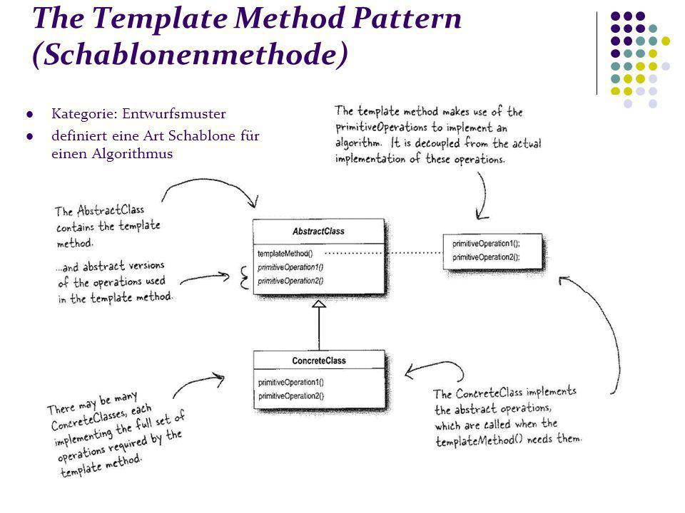 The Template Method Pattern (Schablonenmethode)
