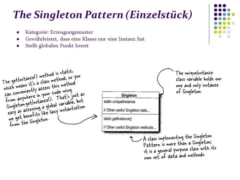 The Singleton Pattern (Einzelstück)