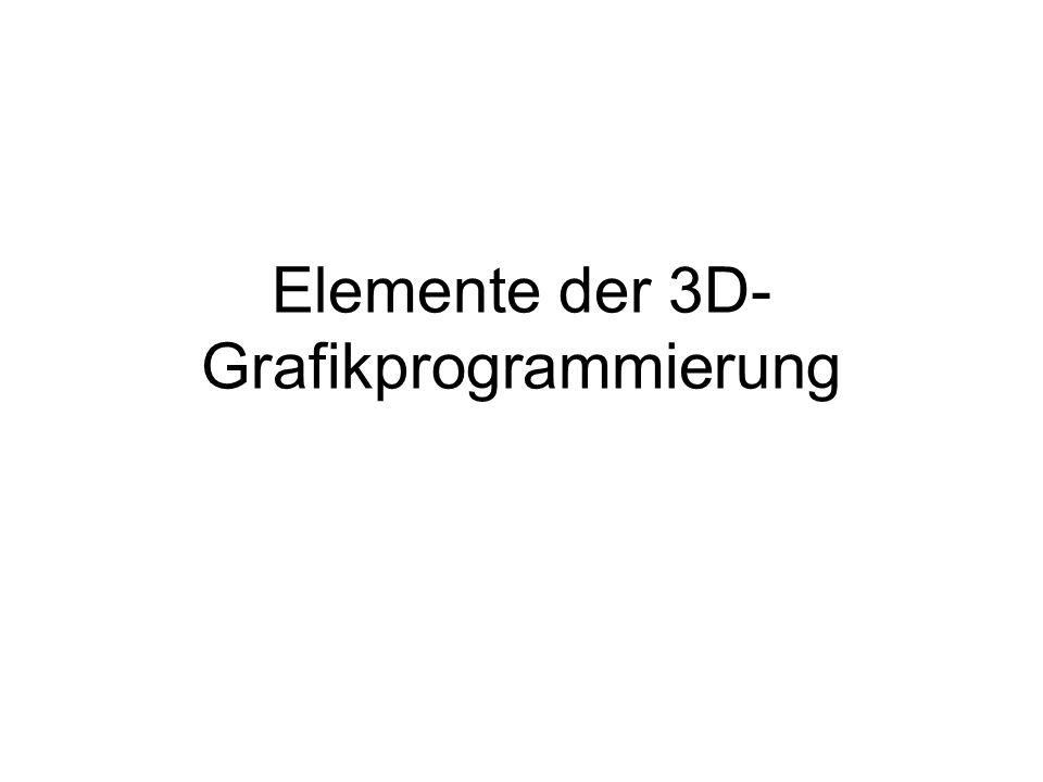 Elemente der 3D-Grafikprogrammierung