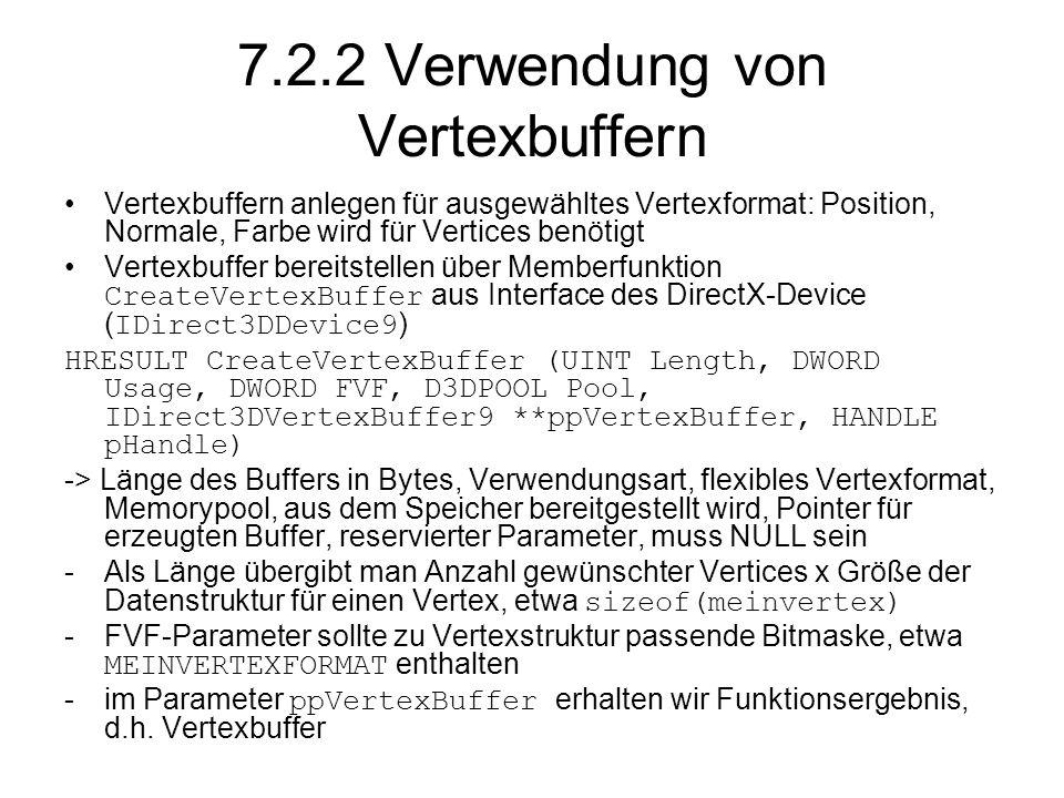 7.2.2 Verwendung von Vertexbuffern