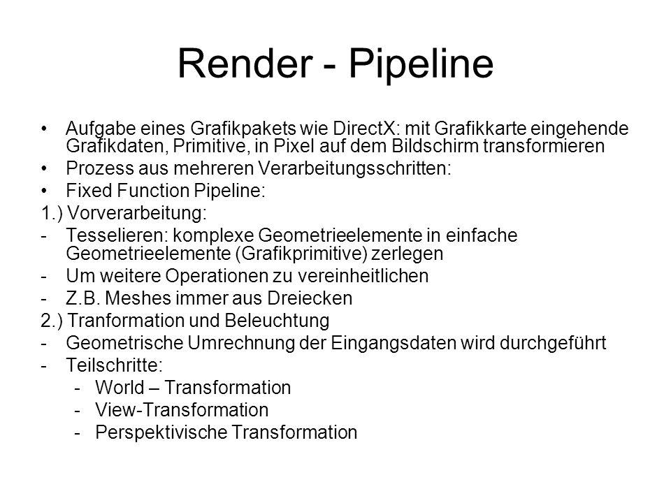 Render - Pipeline