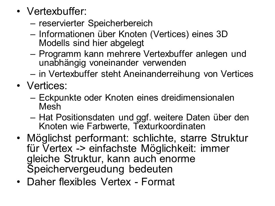 Daher flexibles Vertex - Format