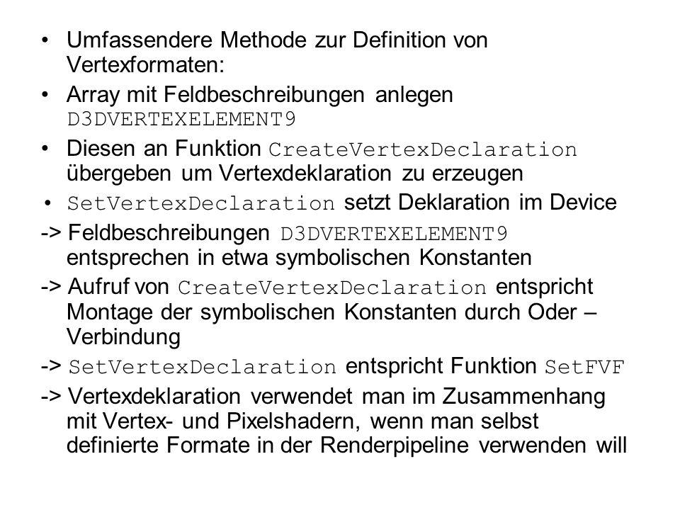 Umfassendere Methode zur Definition von Vertexformaten: