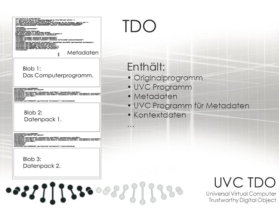 TDO UVC TDO Universal Virtual Computer Trustworthy Digital Object
