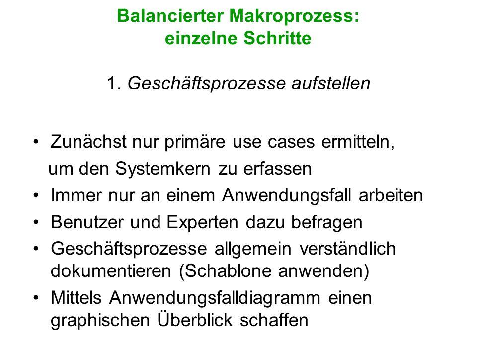 Balancierter Makroprozess: einzelne Schritte 1
