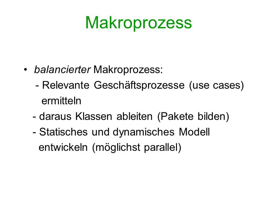 Makroprozess balancierter Makroprozess: