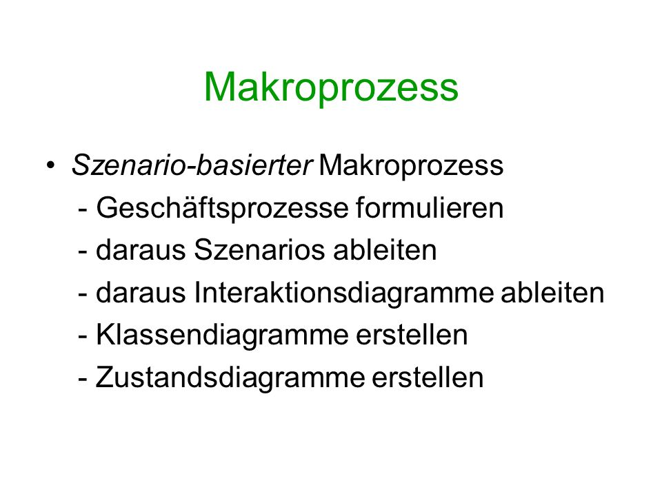 Makroprozess Szenario-basierter Makroprozess