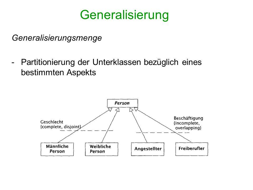 Generalisierung Generalisierungsmenge