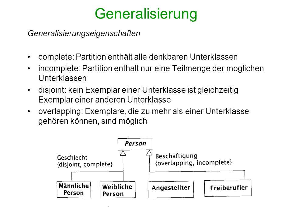 Generalisierung Generalisierungseigenschaften