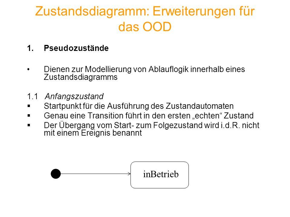 Zustandsdiagramm: Erweiterungen für das OOD