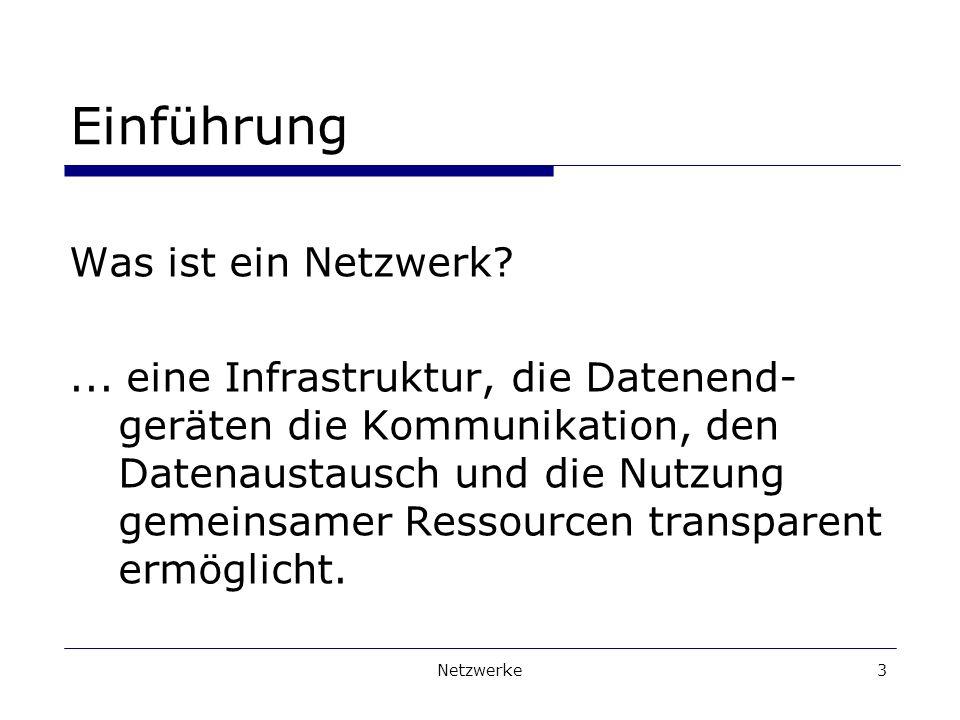 Einführung Was ist ein Netzwerk
