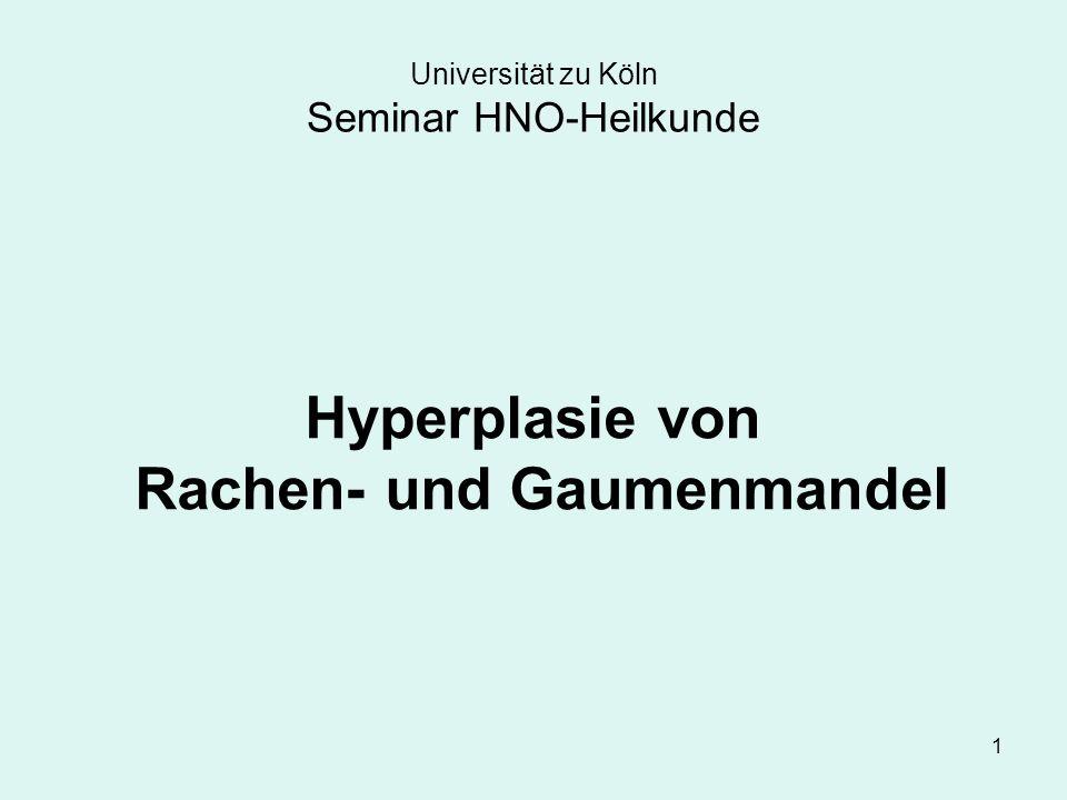 Universität zu Köln Seminar HNO-Heilkunde