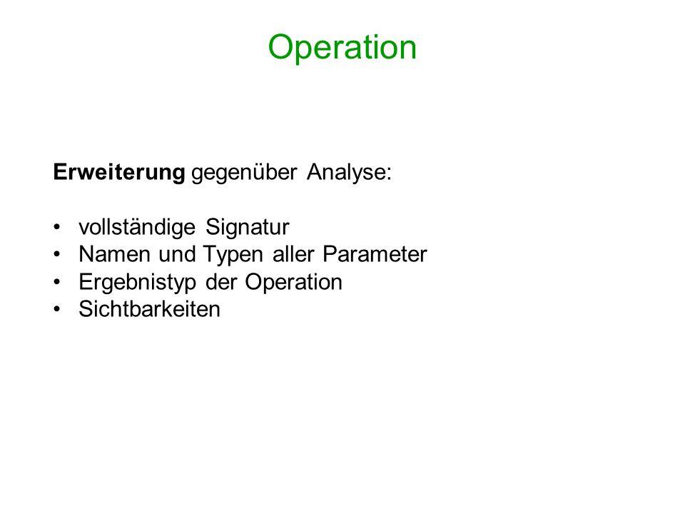 Operation Erweiterung gegenüber Analyse: vollständige Signatur