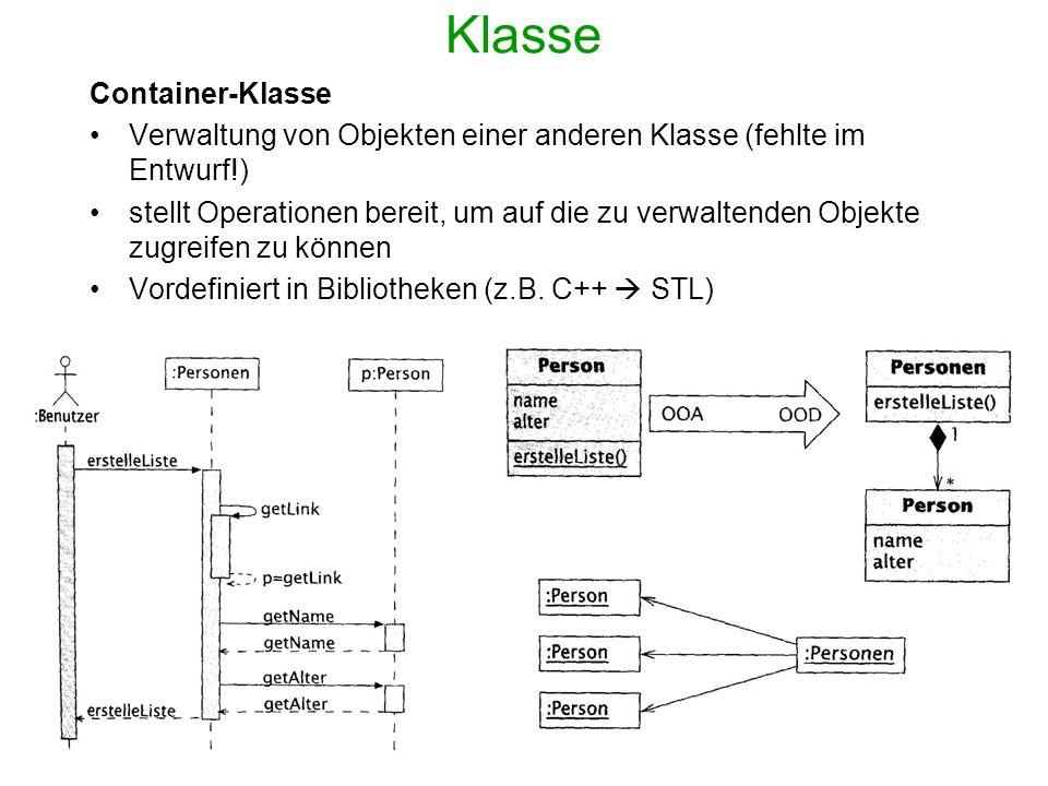 Klasse Container-Klasse