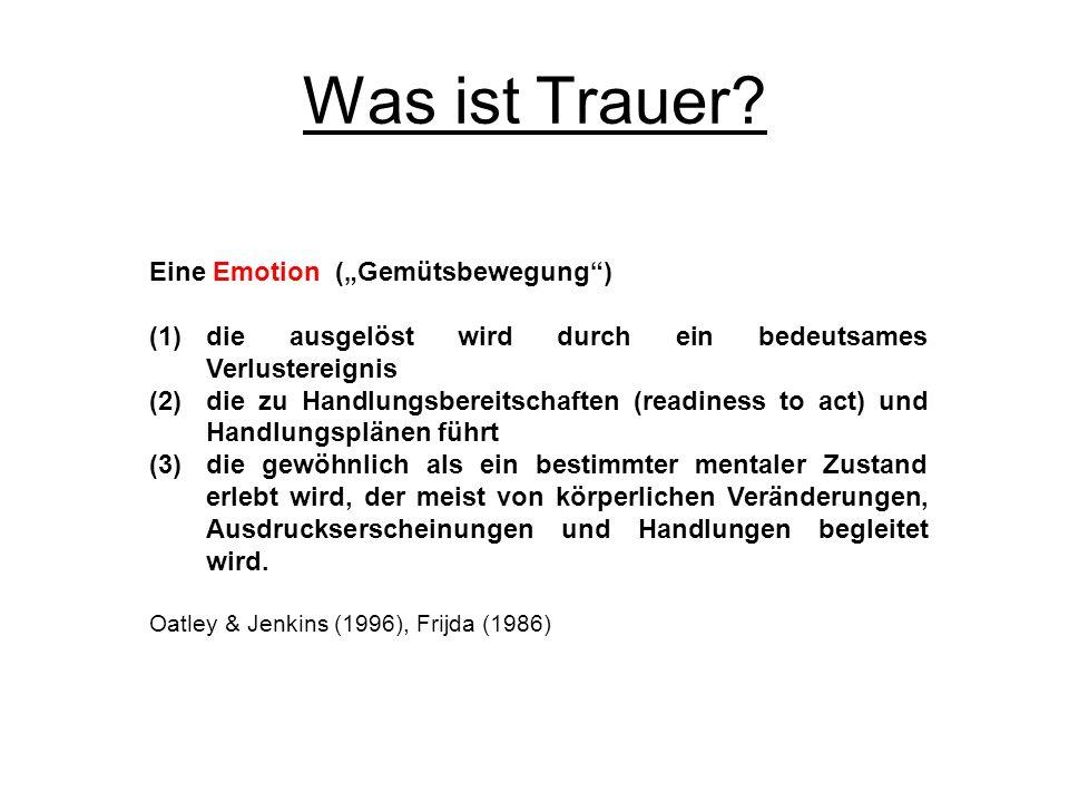 """Was ist Trauer Eine Emotion (""""Gemütsbewegung )"""